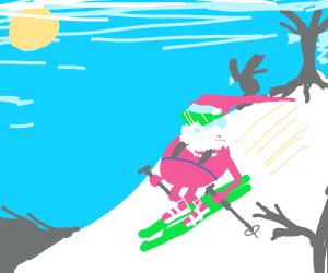Santa on his vacation