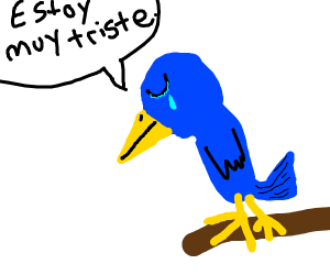 Bird is feeling really miserable