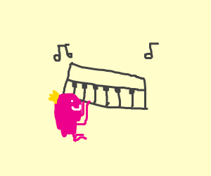 pretty princess is musicing on piano
