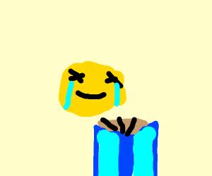 emoji reading a book