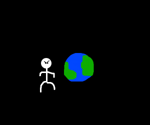 guy next to earth