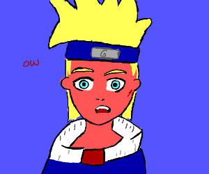 Sun burned Naruto