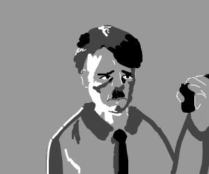 Hitler preparing to kill himself