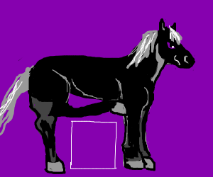Horse with square legs