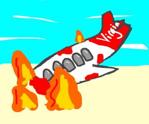 Virgin airlines bloody crash