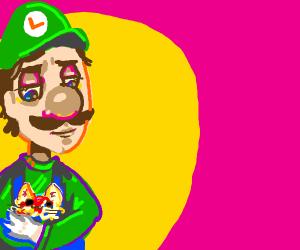 Luigi and his spaghetti cat