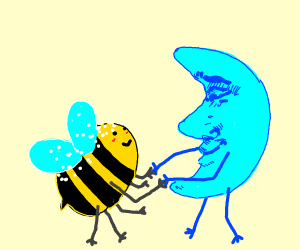 salted bee dancing with disturbed moon