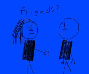 Sad girl wants to be friends with sad guy