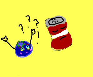 Blueberry asking soda-dad why they're food