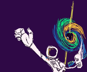 astronaut escaping blackhole
