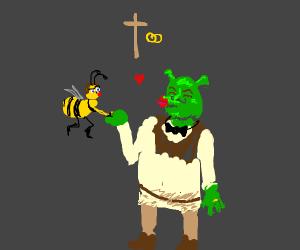 Barry B. Benson and Shrek get married