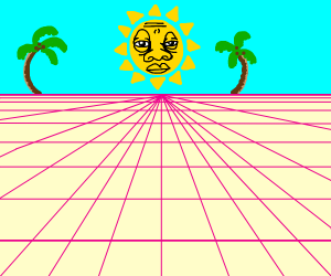 a sun in the 80's