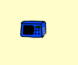 Blue microwave