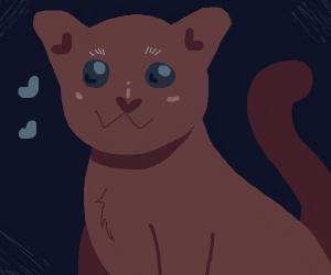 Smiling animated cat