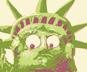 The Statue Of Liberty, Defaced