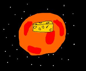 Giant cheese wedge on Mars