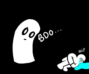 Man scared of ghost
