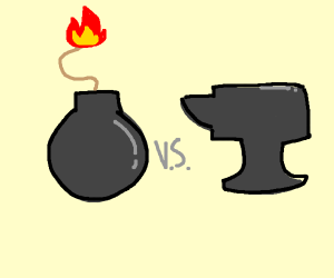 Bomb vs Anvil