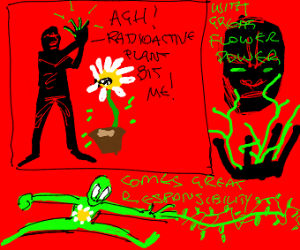 flower grows from hand