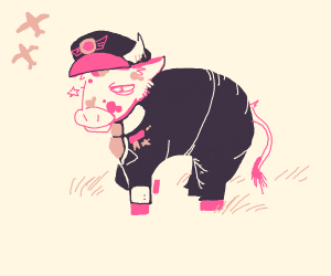 pink cow is all duty