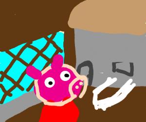 Peppa Pig is in the Krusty Krab.