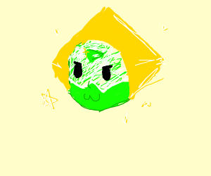a sparkly green gem