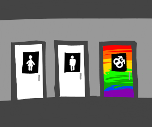 Only gay people allowed in the rainbow room