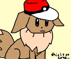 Eevee with Pokeball Hat