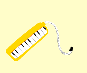 a yellow melodica
