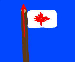 Canadian flag pikes blood