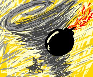 bomb in a tornado