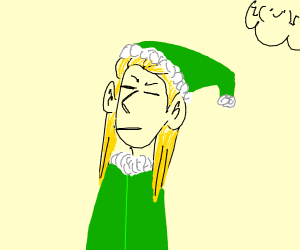 Legolas as a Santa's elf