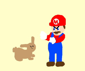 Mario vs. a Rabbit
