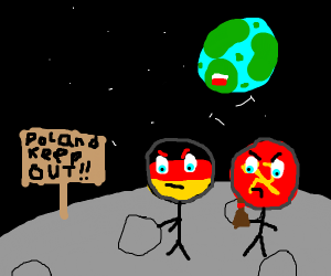 Poland cannot into space