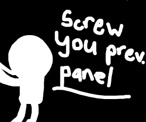 Panel 13 punches Panel 12 in the face.