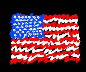 The USA flag but with 50 pentagrams.