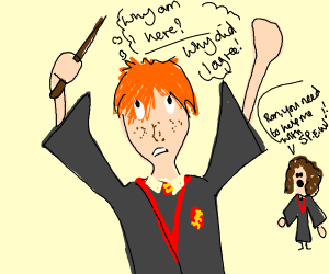 Ron questioning his life decisions