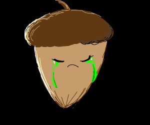 acorn crying green tears
