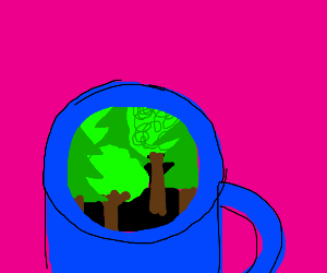 Forest in a mug!