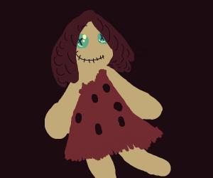 Cute, cavegirl-like rag doll
