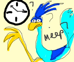 roadrunner doesn't know how to tell time