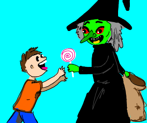 a witch kidnapping a child