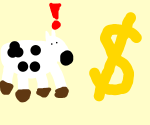 cow shocked by the economy
