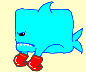 Square shark is now a boxer