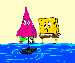 SpongeBob & Patrick watching something float