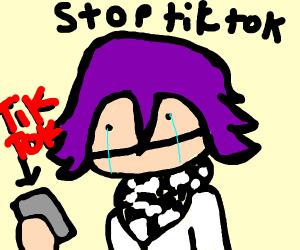 An anime guy is sick of TikTok memes