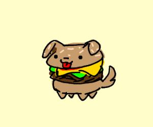 Small burger puppy