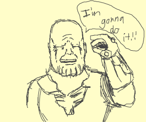 Thanos snapping himself