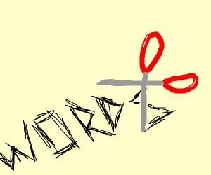scissors writes words