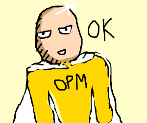 Once punch man says OK